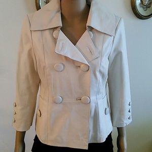 Jackets & Blazers - BEBE real leather modern  Jacket, size M